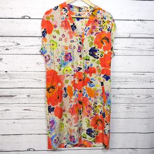 Rachel Roy | silk floral printed shirt dress